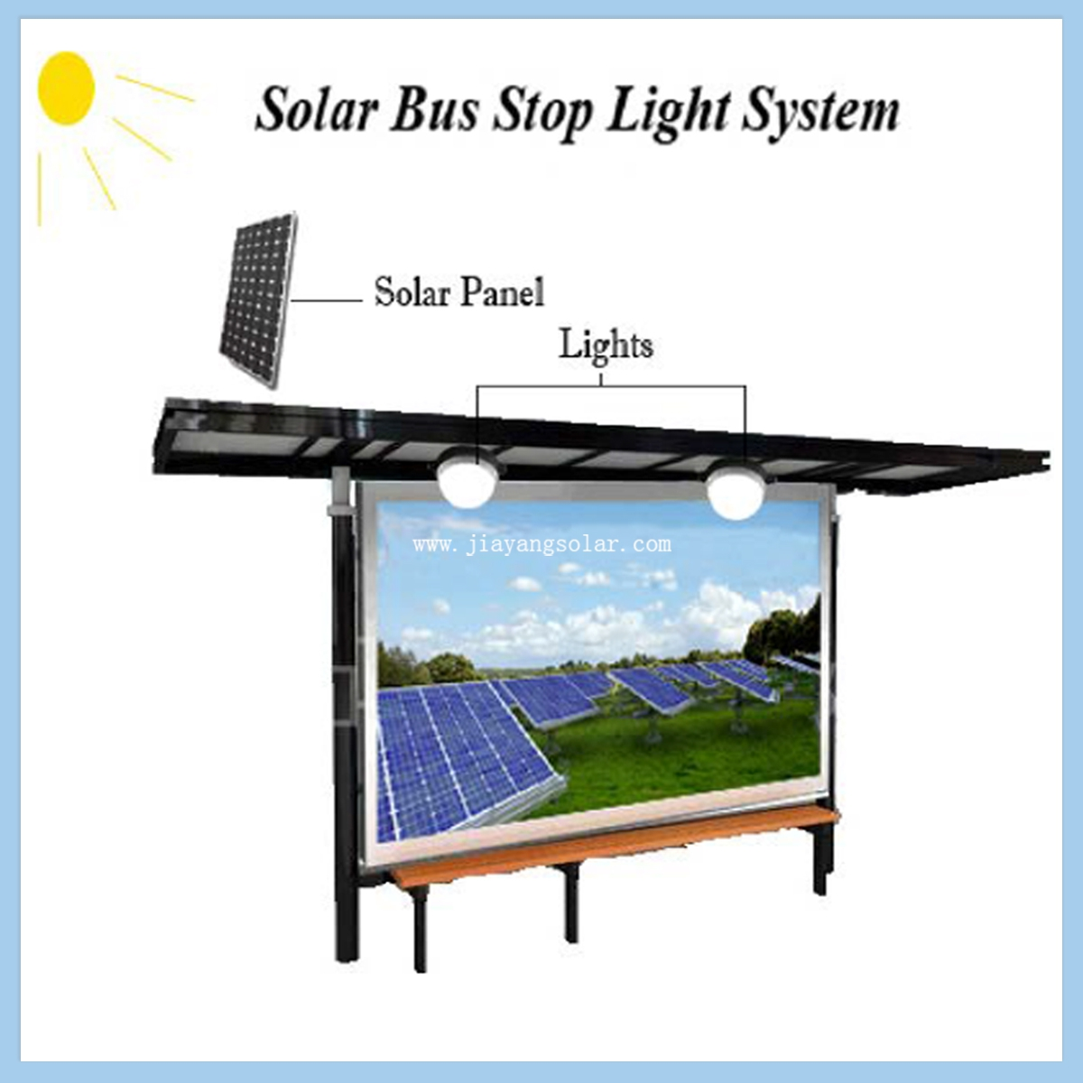 Solar Bus Stop Light systems